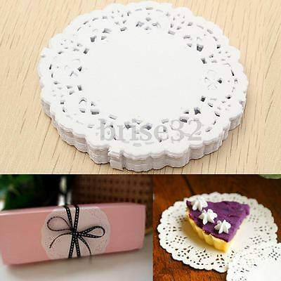 "180pcs 3.5"" Inch White Paper Lace Doilies Wedding Party Scrapbooking Craft Decor"