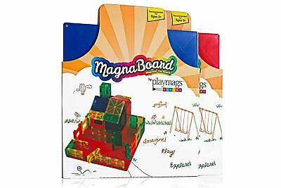 Playmags Building Board- Great Add on to Any Magnetic Tile Toy - Colors May Vary