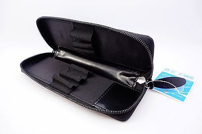 Pilot Leather 6 fountain pen case - Black