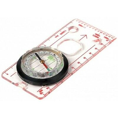 Highlander Deluxe Map Compass for Walking Hiking Orienteering DofE With Lanyard