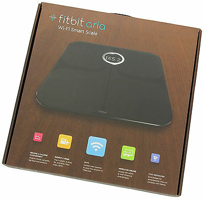 Fitbit Aria Wi-Fi Smart Scale Tracks Weight Body Fat BMI iphone Android App