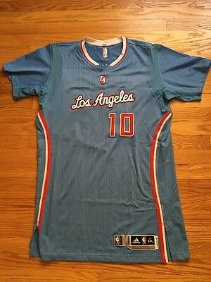Spencer Hawes Los Angless Clippers baby blue game worn sleeved jersey