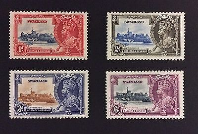 Set Of 4 Silver Jubilee Stamps 1935 Swaziland