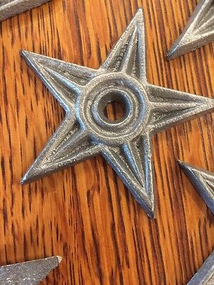 3 Cast Iron Stars Stress Washer Texas Lone Star Rustic Ranch Cowboy 4""