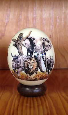 Ostrich Egg Decoupage Decorated