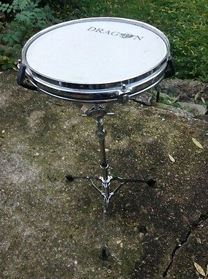 "Free P&P. 10"" Mesh Head Practice Pad on Its Own Stand. For Drum Kit Practice"