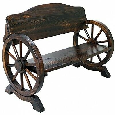 Rustic Farmhouse Bench Solid Wood Vintage Wooden Furniture Garden Patio Outdoor