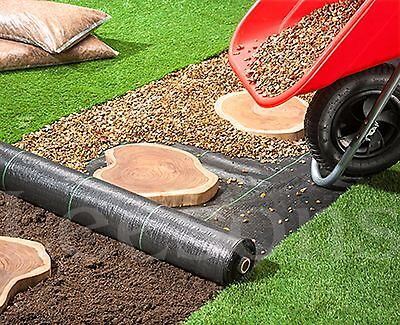 PRO-TEC WEED CONTROL FABRIC MEMBRANE GROUND COVER SHEET PATHWAYS  2m x 50m
