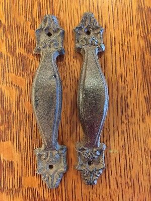 "Lot 2 Antique style 6 3/4"" Cast Iron Rustic Cabinet Pull Door Drawer Handle"