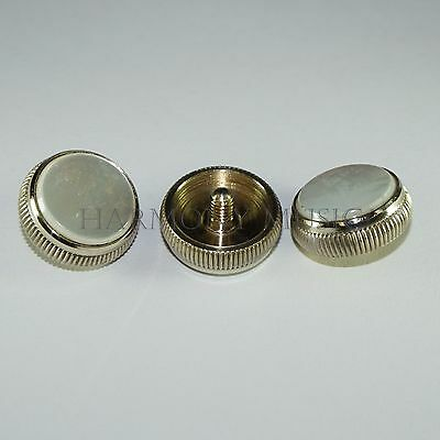 Bach Stradivarius Trumpet Finger Button With Pearl Strad Cornet Nickel Set of 3!