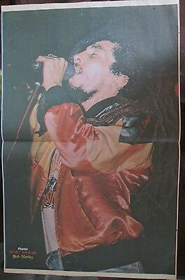 Bob Marley Celebrity Poster 1982 From A Magazine In Spanish