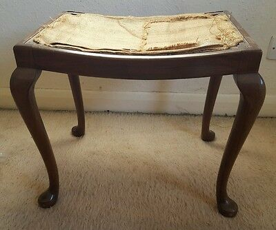 Antique Vintage Piano Stool Seat Victorian Edwardian Shabby Chic Wooden