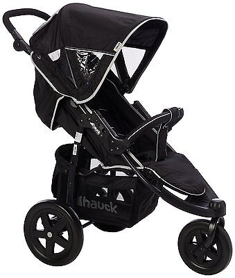 New Hauck Caviar / Grey Viper 3 Wheel Pushchair Stroller From Birth Baby Buggy