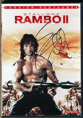 Sylvester Stallone - Autographed - Signed Rambo II DVD Page Cover JSA Z05313