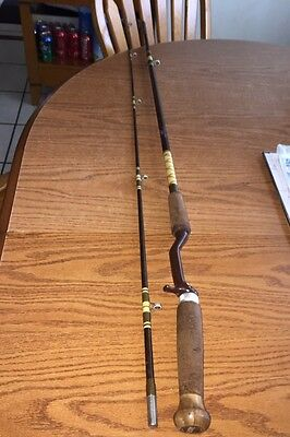 """VINTAGE Zebco """"John Powell"""" Pro Staff Fishing Rod PS-12 Pistol Grip  made in USA"""