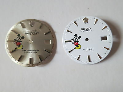 ♛ Watch Dial Restoration Refinishing Service For Micky Mosue Custom Dial ♛