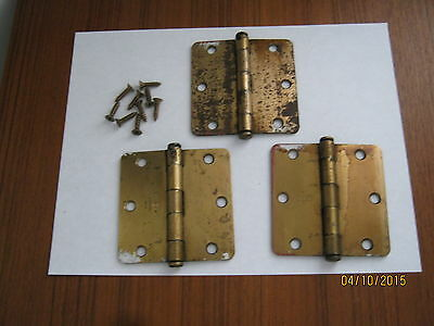"Vintage Three SC2514 Lawrence Door Hinges  3.5"" x 3.5"""