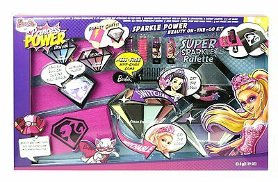 Barbie! Sparkle Power Beauty On The Go Makeup Kit Little girl cosmetic gift set!
