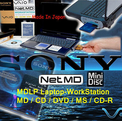 LOOK! SONY VAIO MINIDISC LAPTOP 30GB MDLP DOUBLE:Hi-MD DVD CD MMS USB to Net MD