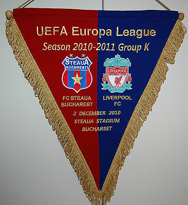 Steaua Bucuresti Vs Fc Liverpool  Official Match Pennant Europa League 2010