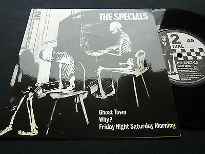 "The Specials Ghost Town UK Two Tone 7"" 45 single Paper Label EX+/ EX"