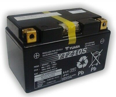 Genuine Yuasa YTZ10S 12V High Performance AGM Motorbike Motorcycle Battery