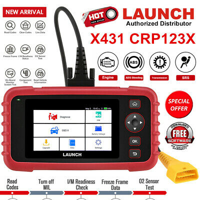 LAUNCH Creader CRP123 OBDII Diagnostic Tool Engine Transmission ABS SRS CA Stock