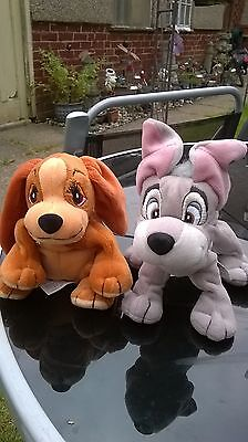 Disney Lady And The Tramp 2 Soft 6 Inch Plush Promotional Beanie Toys