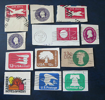 Usa Stamps Envelope/postal Card Cutouts Lot #4  Used