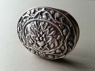 RARE Ottoman SNUFF or MEDICINE Hand-wrought silver box Purity silver 1000