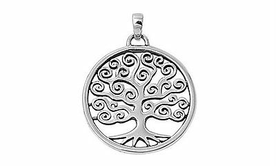Silver 925 Tree of Life pendant - Family tree mother necklace charm birth GIFT