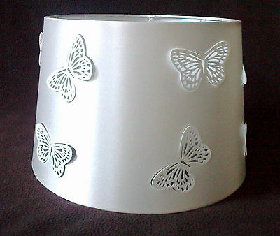 New Girls White Cut Out Butterfly Light Shade Lampshade Ceiling Table Lightshade