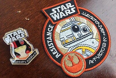 Star Wars Funko Pop Smugglers Bounty Resistance Patch and Pin FREE SHIPPING BB-8