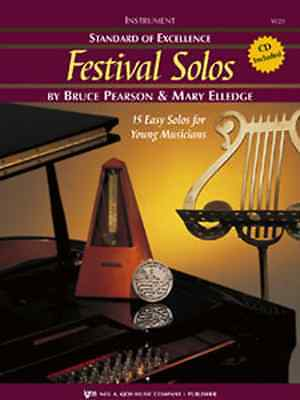 Standard Of Excellence-Festival Solos-Music Book/Cd Alto Saxophone Brand New Sax