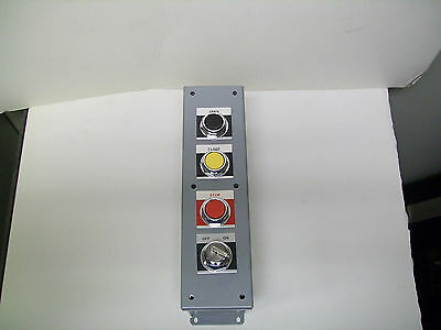 GE CR104PEG14 Enclosure (4 Hole) w/ Pushbuttons & Key Switch w/ Contact Blocks