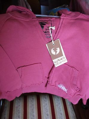 Brand>New>Branded>Urban>Storm>Girls>Cerise Pink>Hoodie>Age 7-8Years