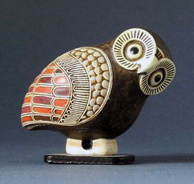 Ancient Greek Owl Statue Sculpture of Corinthian Aryballos Replica Reproduction