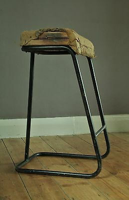 Mid Century engineers stool, great upholstery project or display piece