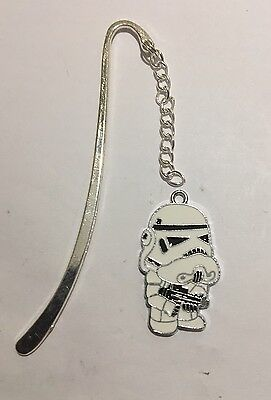Star Wars StormTrooper Bookmark Silver plated With an Enamel Charm.