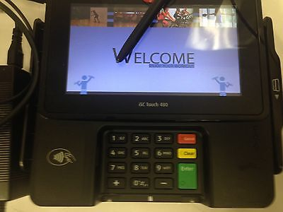 INGENICO iSC TOUCH 480  ISC480‑11P2809A CREDIT CARD PAYMENT TERMINAL complete
