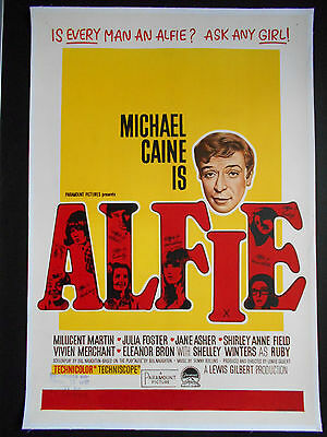 ALFIE Michael Caine 1966 Original Linen-backed One-Sheet Movie Poster