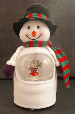 LED Colour Changing Singing Snowman Snow Globe