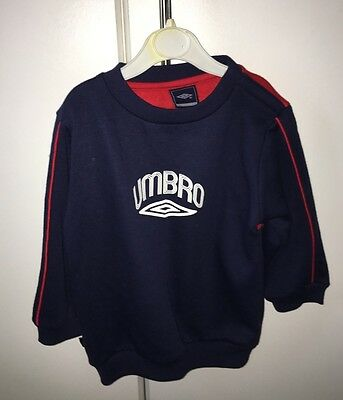 New Umbro Jog Suit Jumper Babies - 18-24 Months Size - Navy