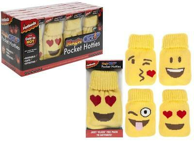 Emoji Pocket Warmer Hotties Re -Useable Heat Pack With Knitted Covers Gift
