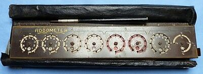 Original Antique 1920's/30's Addometer Early Calculator Machine
