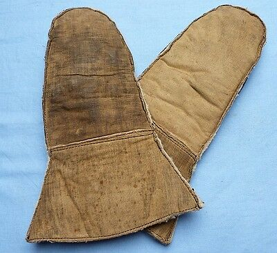 Orig. British Ww1 Royal Flying Corps Airman's Gauntlets Gloves