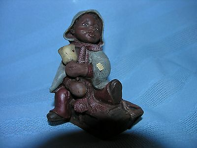SARAH'S ATTIC Boy ON SLED NUMBERED 1992  #860