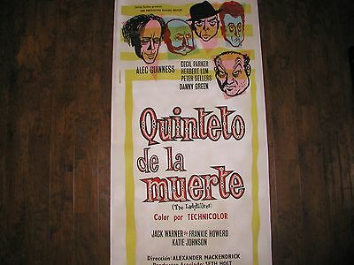 THE LADYKILLERS 1955 Poster Linen Back ALEC GUINNESS PETER SELLERS Ealing Studio