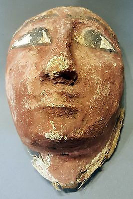 Egyptian Original Ancient Sarcophagus Mask 600 B.C.