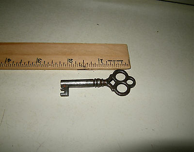 Unique Ornate Antique Old Vintage Skeleton Lever Key Open Barrel 2 1/4""